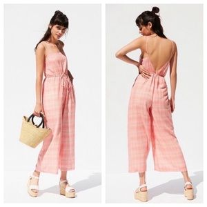 🆕{Urban Outfitters} Audra Gingham Jumpsuit